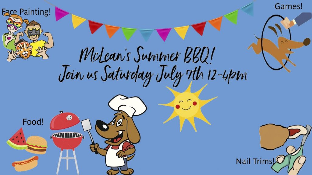 McLean Animal Hospital Summer BBQ event poster